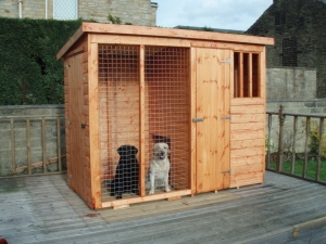 Extra Strong Kennel and Run - Door in End